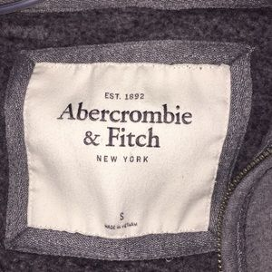 Abercrombie & Fitch Tops - Abercrombie & Fitch Light Gray Hoodie Size Small